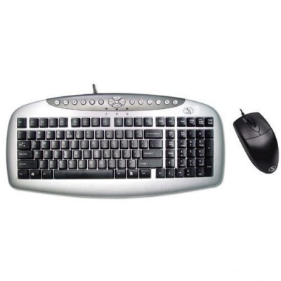 A4 TECH KB-21620D Q PS/2 SİYAH/GRİ SET